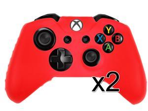 For Microsoft Xbox One Game Controller Red Silicone Gel Case Cover (2 Pack)