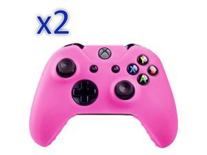 2 Pack Silicone-Soft-Rubber-Gel-Grip-Case-Skin-Cover-for-Xbox-One-Controller