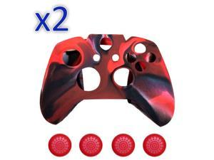 Set of 2 Silicone Cover Case Skin & Grip Stick Caps For Xbox One Controller