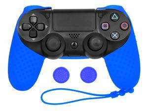 Soft Silicone Skin Cover Case With Grip Stick Caps For Sony Playstation 4 PS4 Controller