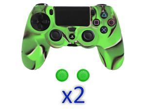 Camouflage Protective Silicone Gel Skin Case Cover For Sony PS4 Controller - 2 Pack