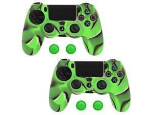 For Sony PS4 Controller Camouflage Protective Silicone Gel Skin Case Cover - 2 Pack