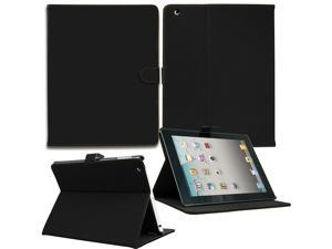 Luxury Leather Smart Case Cover For Apple ipad 2 3rd And 4th Generation With Auto Sleep/Wake Function - Black