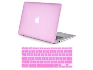 "Rubberized Matte Hard Case for Apple Macbook Air 11"" A1370 / A1465 + Silicone Keyboard Skin Cover Back Case Cover For Macbook Air 11-Inch PINK"