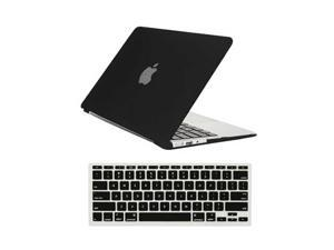 "Rubberized Matte Hard Case for Apple Macbook Air 11"" A1370 / A1465 + Silicone Keyboard Skin Cover Back Case Cover For Macbook Air 11-Inch BLACK"