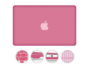 "For MacBook Air 13.3"" 2 in 1 Matte Rubberized Hard Case Snap-On Cover +Silicone Gel Keyboard Skin Macbook Air 13-inch 13"" A1369 / A1466 PINK"