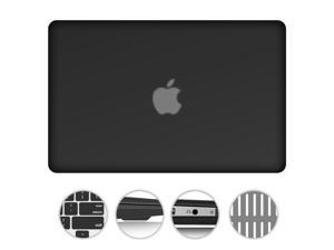 """For MacBook Air 13.3"""" 2 in 1 Matte Rubberized Hard Case Snap-On Cover +Silicone Gel Keyboard Skin Macbook Air 13-inch 13"""" A1369 / A1466 BLACK"""