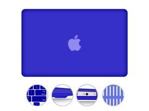 "For MacBook Air 13.3"" 2 in 1 Matte Rubberized Hard Case Snap-On Cover +Silicone Gel Keyboard Skin Macbook Air 13-inch 13"" A1369 / A1466 DARK BLUE"