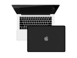 Rubberized Hard Case Keyboard Cover For Macbook Pro 13 Retina A1425/A1502 Free Screen Protector - Black