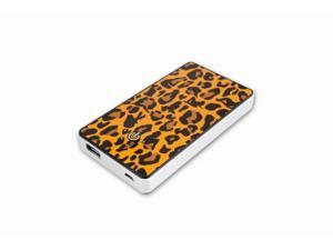 Cellevo Quan 5000mAh Universal Portable Battery for Mobile Devices (5V/2A Output) - Yellow Leopard