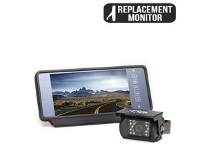 "Rear View Camera System | One (1) Camera Setup with 7"" Replacement Mirror Display RVS-770619N"