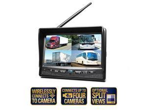 Rear View Safety Wireless Quad Camera System with Cigarette Lighter Adaptor RVS-CW-CAM