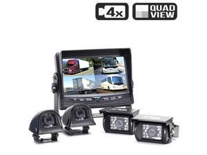Rear View Safety Backup Camera System | Quad (4) Camera Setup RVS-062710