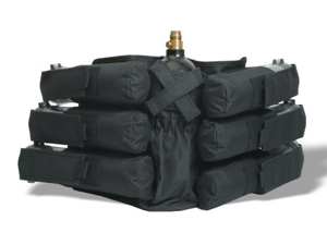 GXG Paintball 6 Horizontal +1 Vertical Harness Ammo Pack - Black