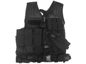 NcStar Paintball Tactical Airsoft Vest - Black - Large