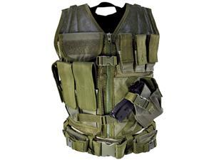 NcStar Paintball Tactical Airsoft Vest - Green - Large