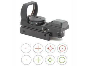 NcSTAR Dual Illumination Multi Reticle Reflex Sight, Black w/ 7 Position Rheosta