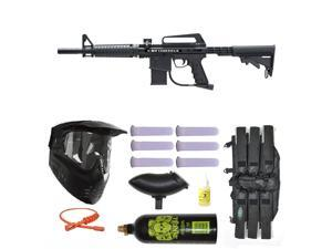 BT Omega Paintball Marker Gun 3Skull Mega Set - Black