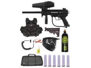 Tippmann A-5 Tactical Vest Paintball Marker Gun Sniper Set w/ Stock