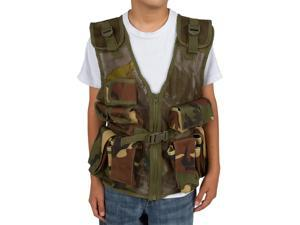 Modern Warrior Paintball Junior Tactical Vest - Camo