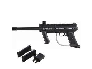 Tippmann 98 Custom Ultra PS Paintball Marker Gun w/ Mag Fed Adapter & Mags
