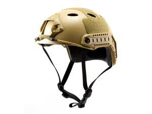 Tactical Crusader Lightweight Tactical Paintball Helmet - Tan