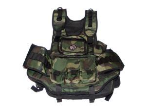 GXG Paintball Deluxe Tactical Vest - Woodland