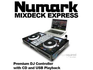 Numark Mixdeck Express DJ Controller with CD/USB DJ Software Computer Controller & I/O Package