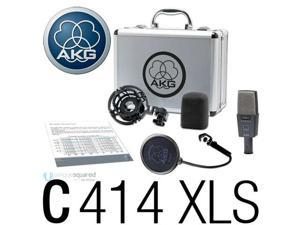 AKG C414-XLS Recording Studio Condenser Microphone Mic Factory Package NEW
