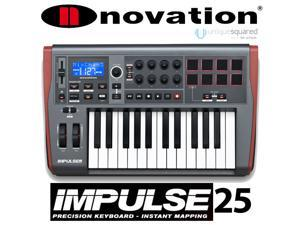 Novation Impulse 25-Key MIDI Controller Keyboard w/ 8 Drum Pads
