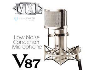 MXL V87 Low Noise Condenser Mic w/ Shockmount & Pop Filter