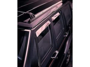Auto Ventshade 14134 Ventshade Deflector - 4 Pc Set Stainless