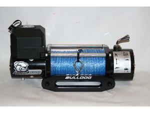 Bulldog Winch 10014 8000lb Winch with 5.2hp Series Wound Motor,100ft Synthetic
