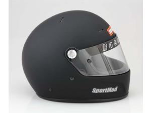 Racequip 274997 Helmet: Flat Black&#59; Size 2X-Large&#59; Full-Face Type&#59; SA-2010
