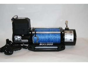 Bulldog Winch 10015 9500lb Winch with 5.5hp Series Wound, 100ft Synthetic Rope,