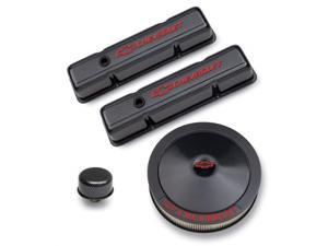 Proform 141-710 Chevy Carbon-Style Dress-Up Kit. Red Bowtie Emblem And