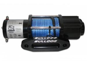 Bulldog Winch 15012 4000lb UTV/Utility Winch, long drum, 50ft Synthetic Rope,
