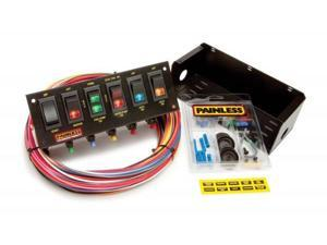 Painless 50302 6 Switch Fused Panel w/all necessary wiring & hardware