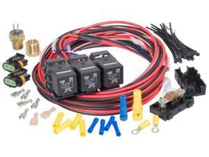 Painless 30117 Dual Activation/Dual Fan Relay Kit (on 185, off 170)