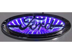 Race Sport RS-3DLED-FORD-B 3D LED Logo Badge (Ford-Blue)