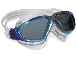Aqua Sphere Vista Goggle - Smoke Lens - Light Blue Great for Swimming