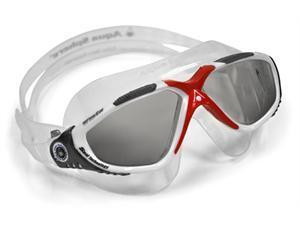 Aqua Sphere Vista Goggle - Smoke Lens - Red Great for Swimming