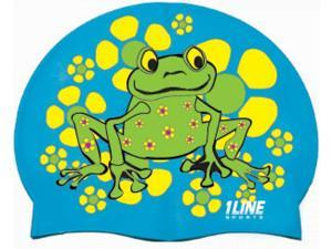 1Line Sports Frog Power Silicone Swim Cap Royal