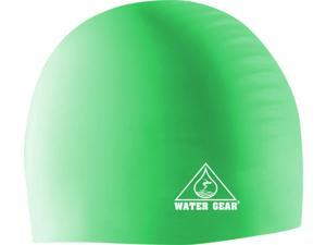 Water Gear Silicone Swim Cap Neon Green