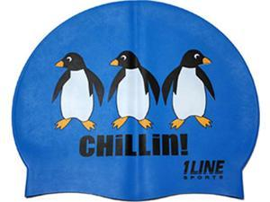 1Line Sports Chillin Silicone Swim Cap Royal