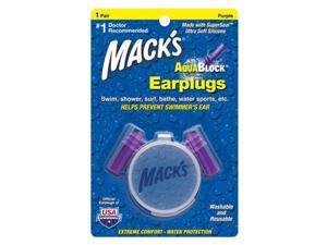 Macks Aqua Block Ear Plugs 1 Pair Purple