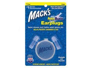Macks Aqua Block Ear Plugs 1 Pair Clear