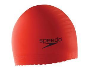 Speedo Solid Latex Swim Cap Red