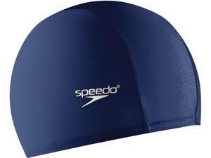 Speedo Solid Lycra Swim Cap Navy