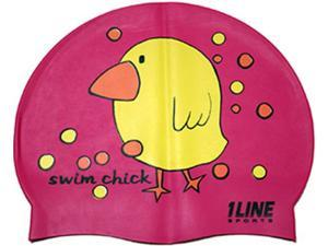 1Line Sports Swim Chick Silicone Swim Cap Pink